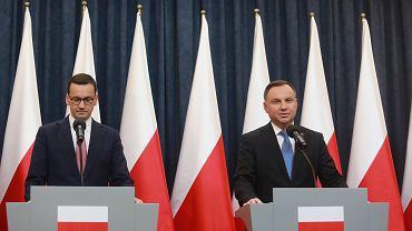 Premier Mateusz Morawiecki i prezydent Andrzej Duda