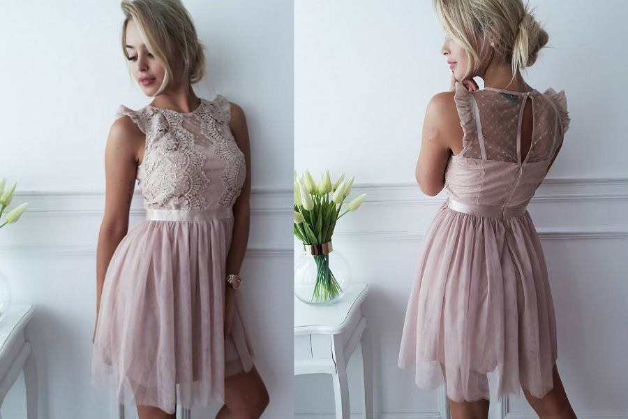 5a3bb08303 Tanie sukienki na wesele sklep internetowy. różowa sukienka na wesele