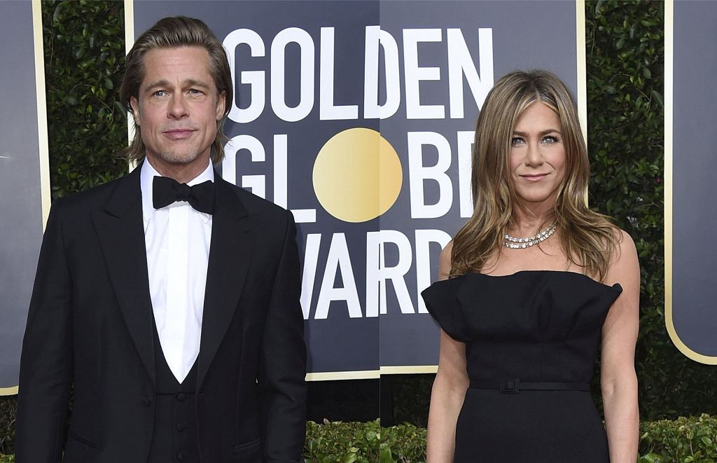 Złote Globy 2020: Brad Pitt i Jennifer Aniston na gali
