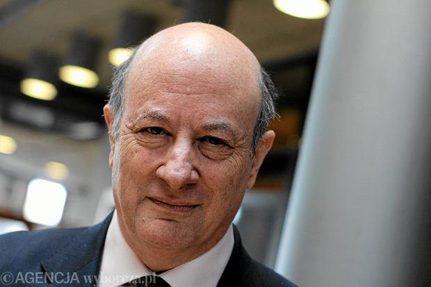 Jacek Rostowski w redakcji GW w 2013 roku, wtedy wicepremier i minister finansów