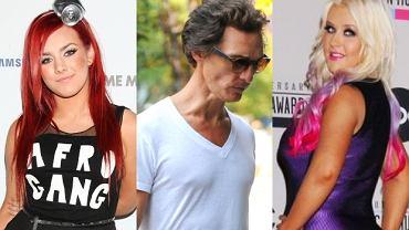 Ewa Farna, Matthew McConaughey, Christina Aguilera.