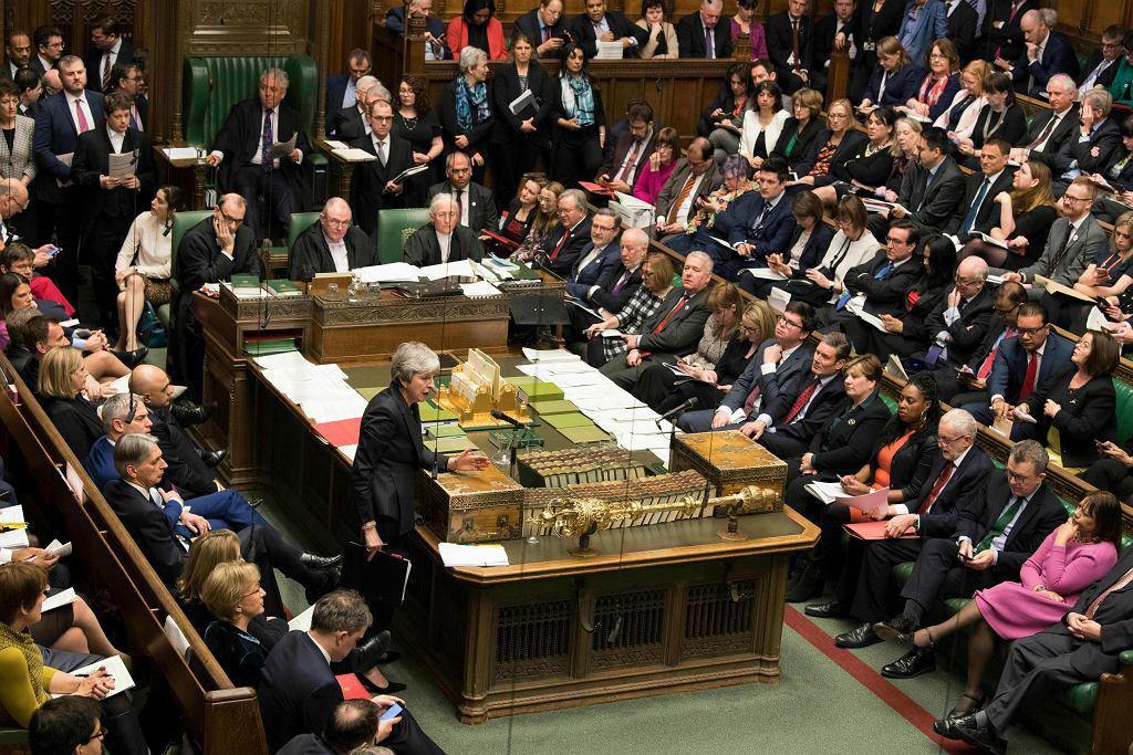 Brexit. Premier Wielkiej Brytanii Theresa May w Izbie Gmin