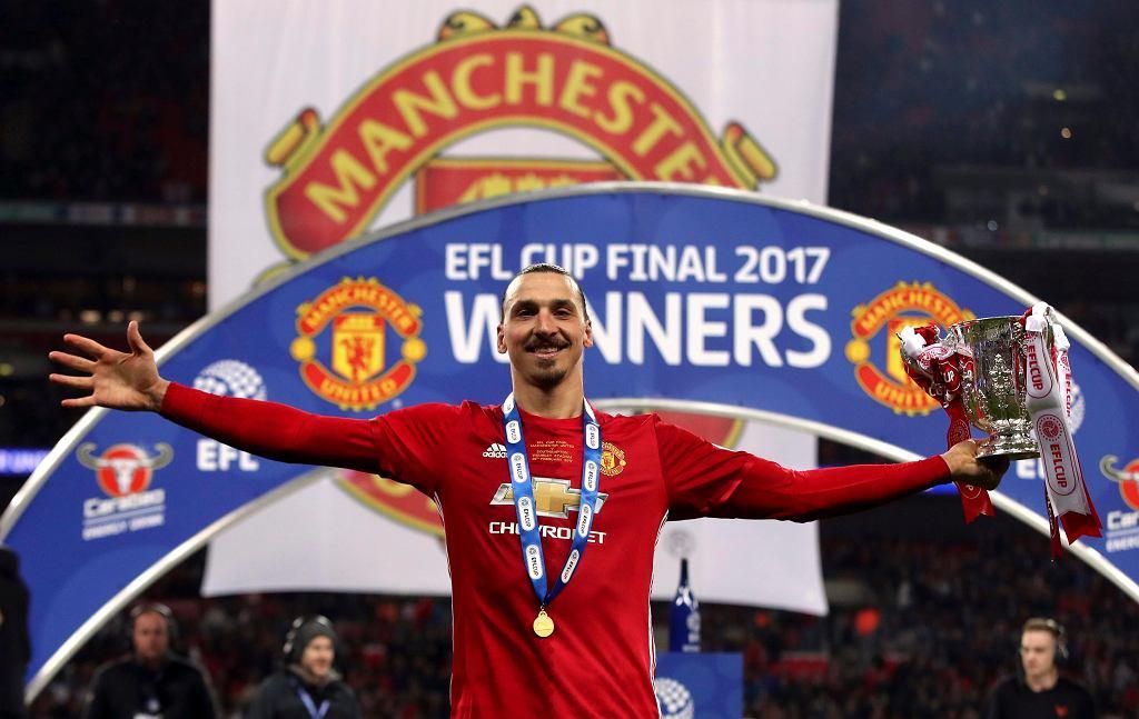 Zadowolony Zlatan Ibrahimovic z Manchesteru United.