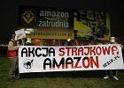 """Amazon - protest pod Poznaniem: """"Pracownicy przechodzą 20 km w magazynie"""""""