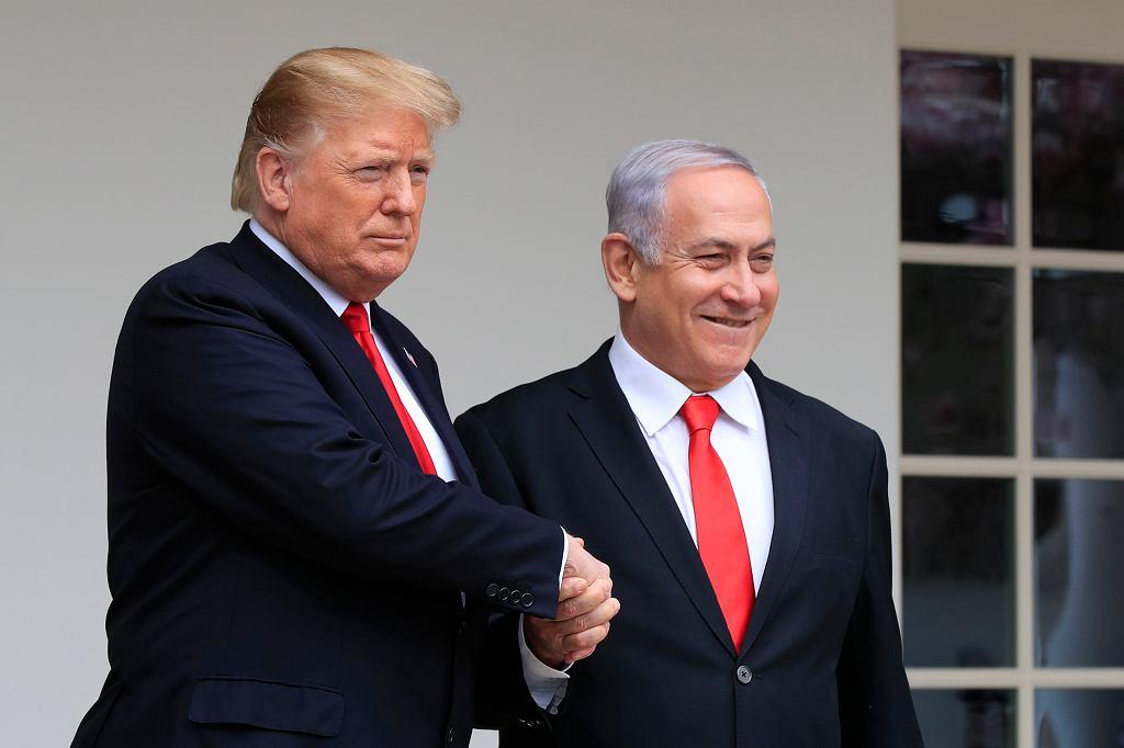 Donald Trump, Benjamin Netanjahu, 25.03.2019 r.