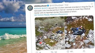 Bahamy. Trzy osoby spędziły 33 dni na bezludnej wyspie