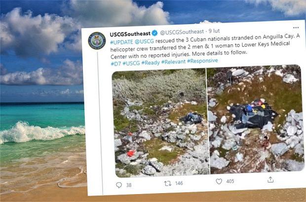 """Utknęli na bezludnej wyspie na Bahamach na 33 dni. """"Nigdy czegoś takiego nie widziałem"""""""