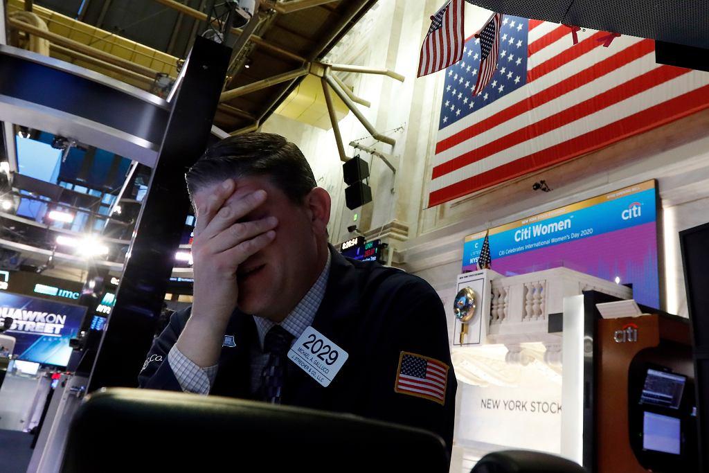Załamanie na giełdach. Wall Street, 9 marca 2020 r.