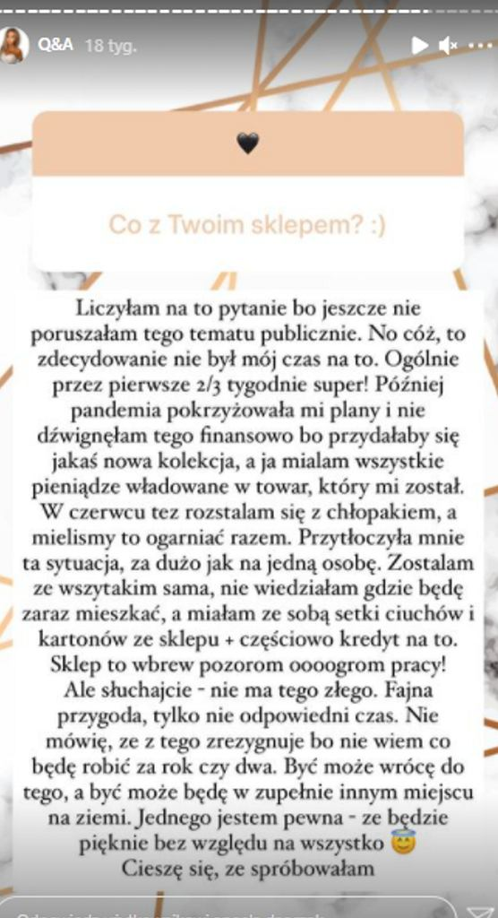 InstaStory Angeli Dańczak