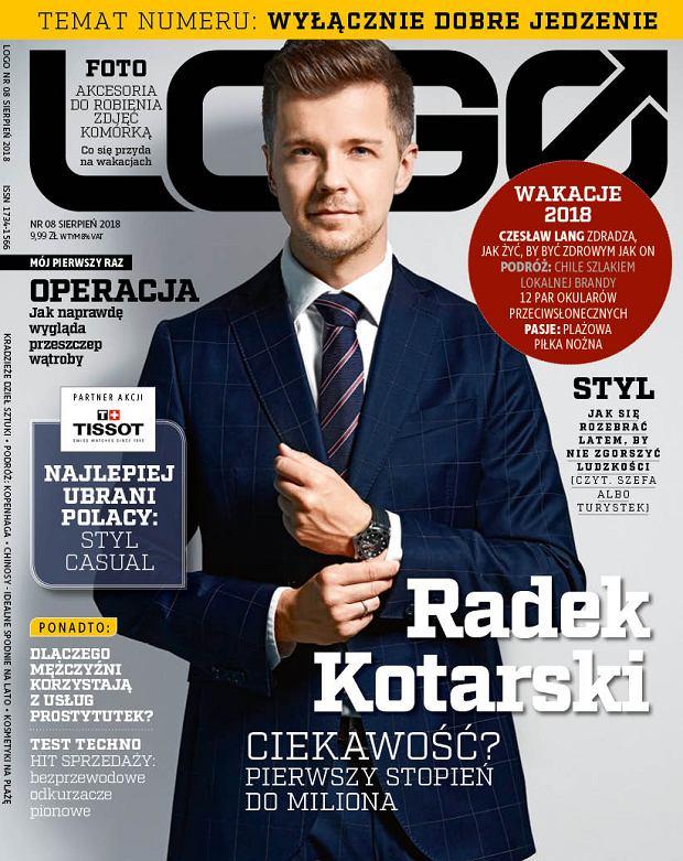 Okładka magazynu LOGO, sierpień 2018 r.