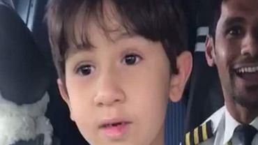 5-letni Adam zadziwił pilotów