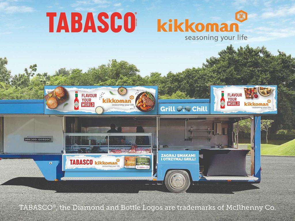 TABASCO i Kikkoman ze swoim food truckiem Grill&Chill / materiały promocyjne