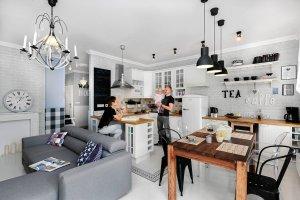Kuchnia otwarta na pokój - przegląd waszych wnętrz