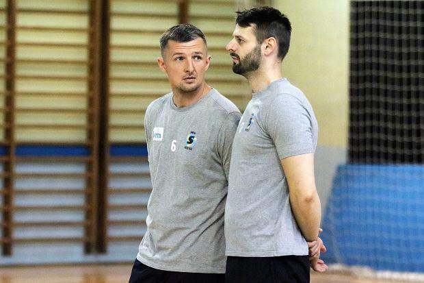 Trening siatkarzy SKS Gorzów, którzy chcą wystartować w drugiej lidze