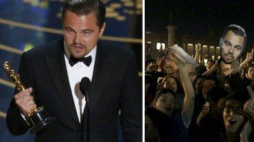 Leonarod DiCaprio wreszcie zdobył Oscara