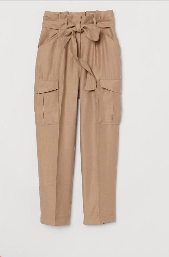 spodnie paper bag