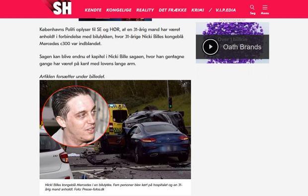 Nicki Bille Nielsen spowodował wypadek