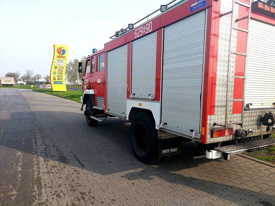 Strażacy z Zawidza na miejscu wypadku w Stropkowie