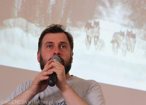 Adam Wajrak na spotkaniu z czytelnikami w 2016 roku