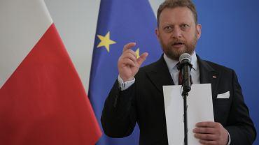 Minister zdrowia w rządzie PiS Łukasz Szumowski podczas konferencji dot. stanu pandemii koronawirusa. Warszawa, 8 czerwca 2020