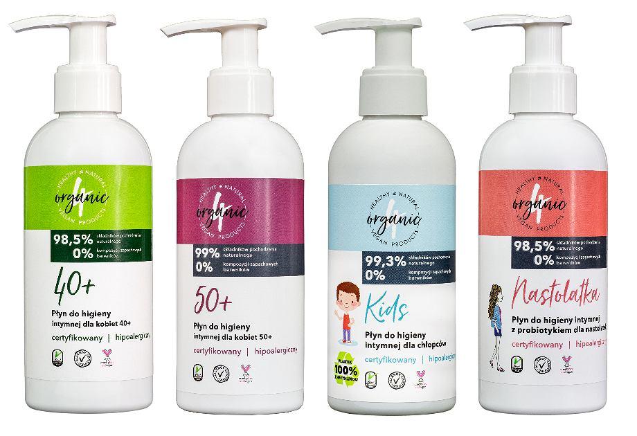 4organic - nowe płyny do higieny intymnej