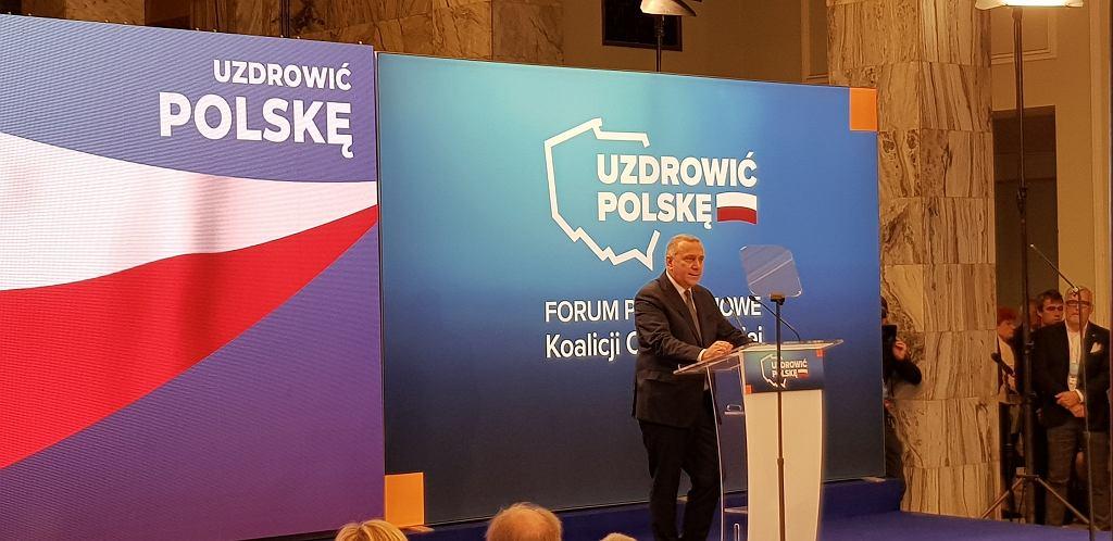 Konwencja Koalicji Obywatelskiej, lider PO Grzegorz Schetyna