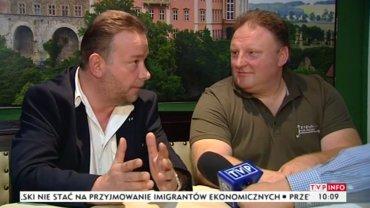 Andreas Richter i Piotr Koper, domniemani odkrywcy tzw. złotego pociągu