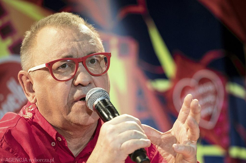 Szef WOŚP Jurek Owsiak. 26 Finał Wielkiej Orkiestry Świątecznej Pomocy w Warszawie