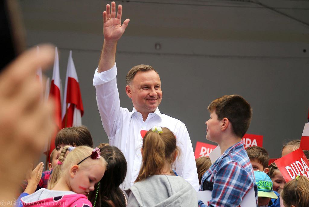 Wybory prezydenckie 2020. Andrzej Duda w Suwałkach