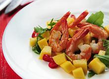 Sałata z krewetkami i mango - ugotuj