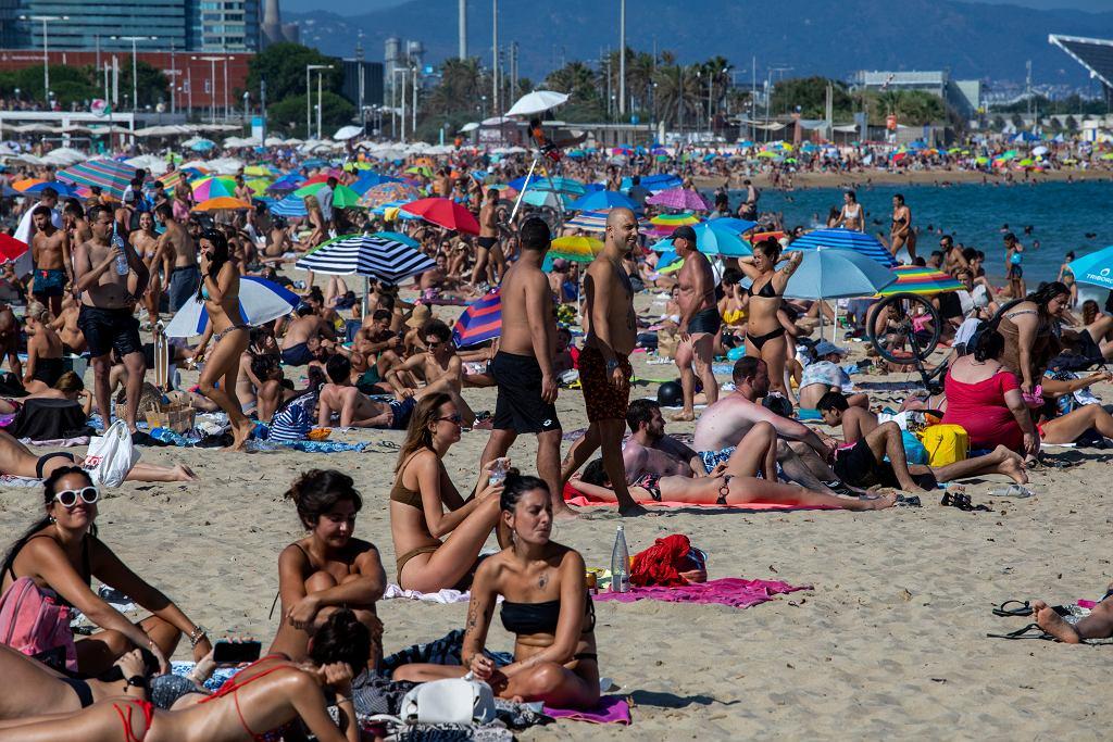 Plaża w Barcelonie, 18 lipca