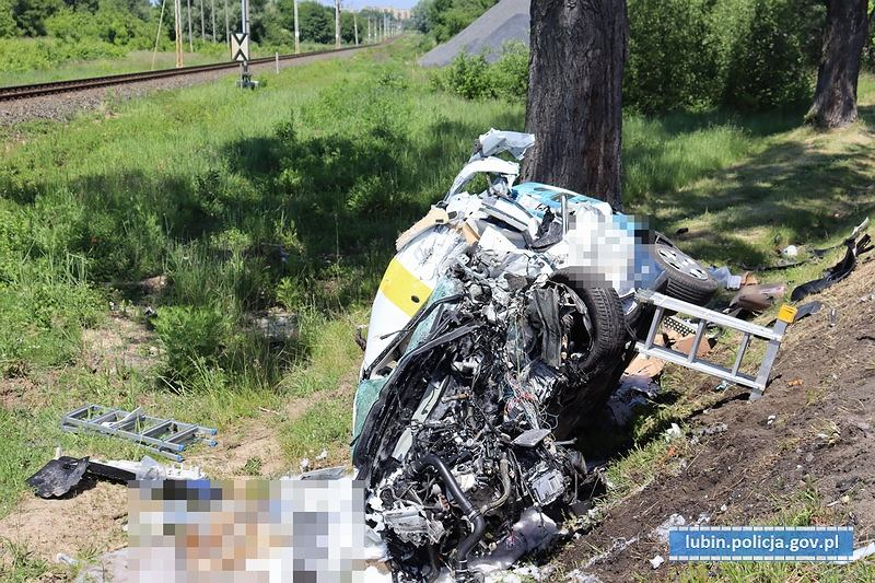 Tragiczny wypadek drogowy w Lubinie