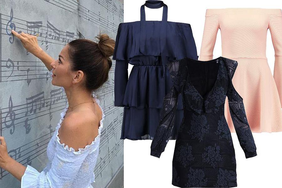 Kolaż, sukienka cold shoulder/Materiały partnera