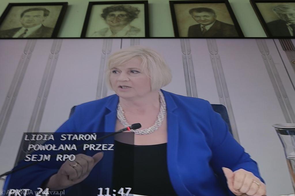 Głosowanie nad kandydaturą Lidii Staroń w Senacie
