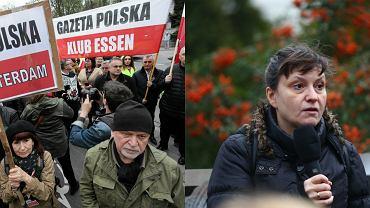 Ewa Stankiewicz przemawiała na demonstracji pod ambasadą Rosji
