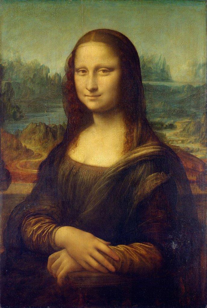 Mona Liza', obraz namalowany na topolowej desce w latach 1503-06, zamówił wenecki kupiec Francesco Giocondo, pozowała jego żona Lisa Gherardini. Z powodu powolnego tempa pracy Leonarda da Vinci kupiec nie odebrał dzieła i nie zapłacił za nie. Leonardo zabrał więc obraz do Francji, gdzie po jego śmierci kupił go Franciszek I. Obraz trafił do rezydencji króla w Fontainebleau, potem do Wersalu, a w końcu do Luwru. W 1800 r. Napoleon zabrał malowidło z Luwru i powiesił w sypialni w pałacu Tuileries, gdzie pozostawało przez cztery lata.