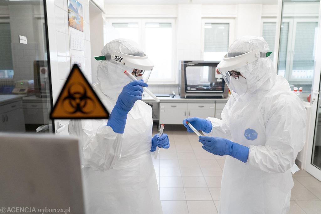Pandemia koronawirusa. Laboratorium wykonujące testy na obecność zakażenia COVID-19. Olsztyn, 11 marca 2020