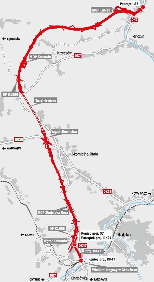 Ogłoszono przetargi na budowę zakopianki między Lubniem i Rabką