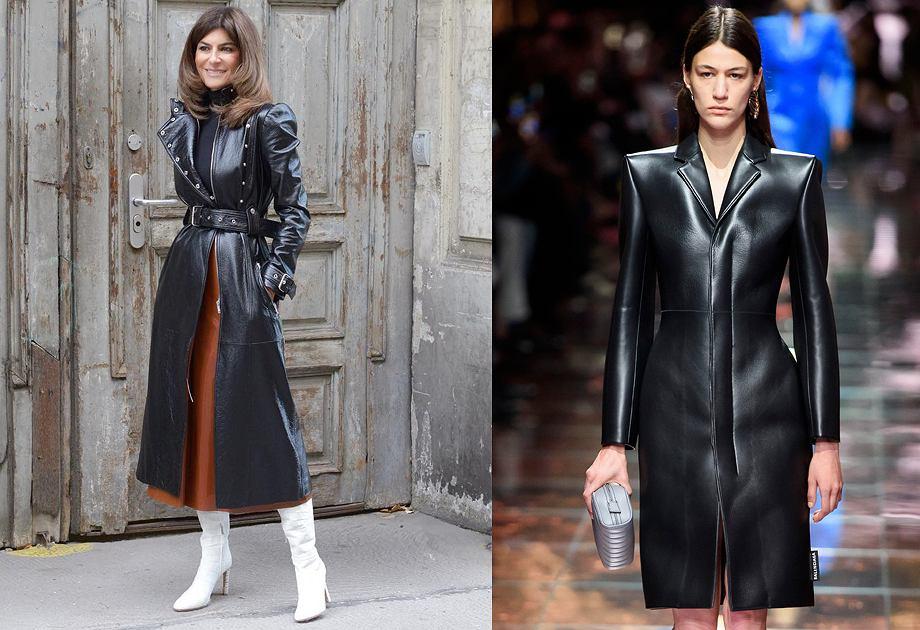 Skórzane płaszcze wracają do mody