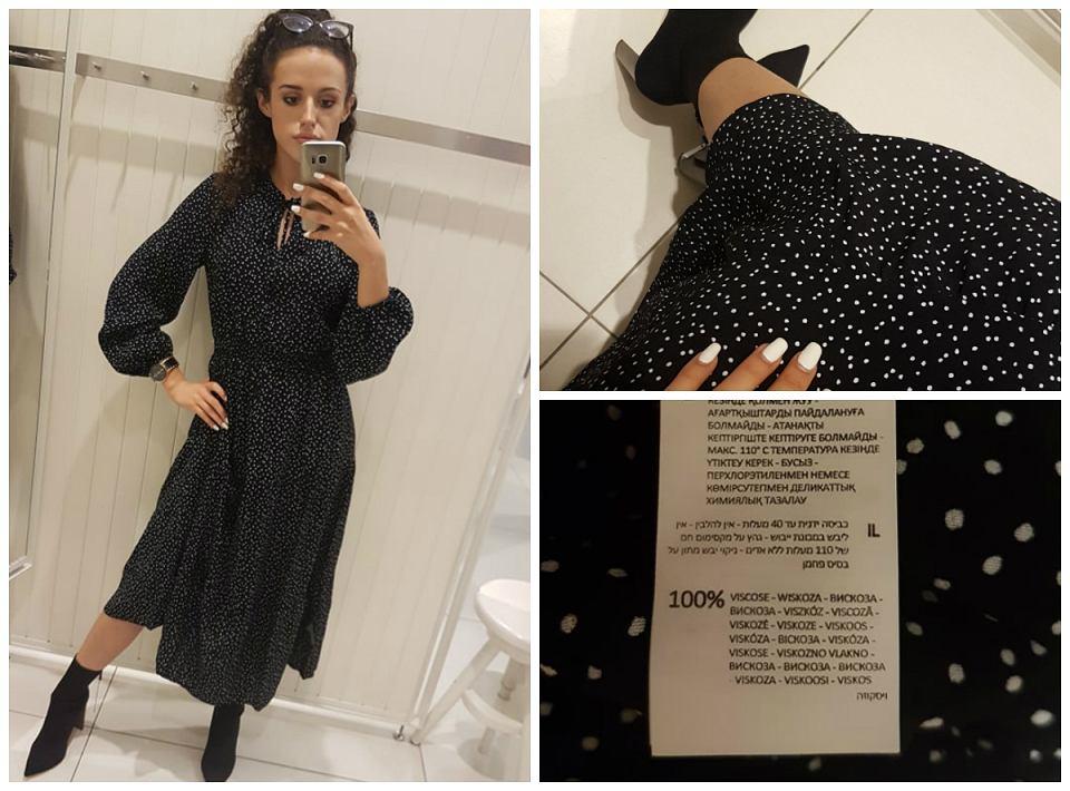 sukienka w groszki Reserved