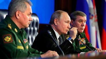 Władimir Putin podczas dorocznego spotkania w Narodowym Centrum Zarządzania Obroną, 24.12.2019
