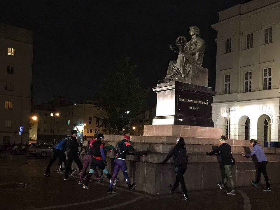 Nocne bieganie w Warszawie