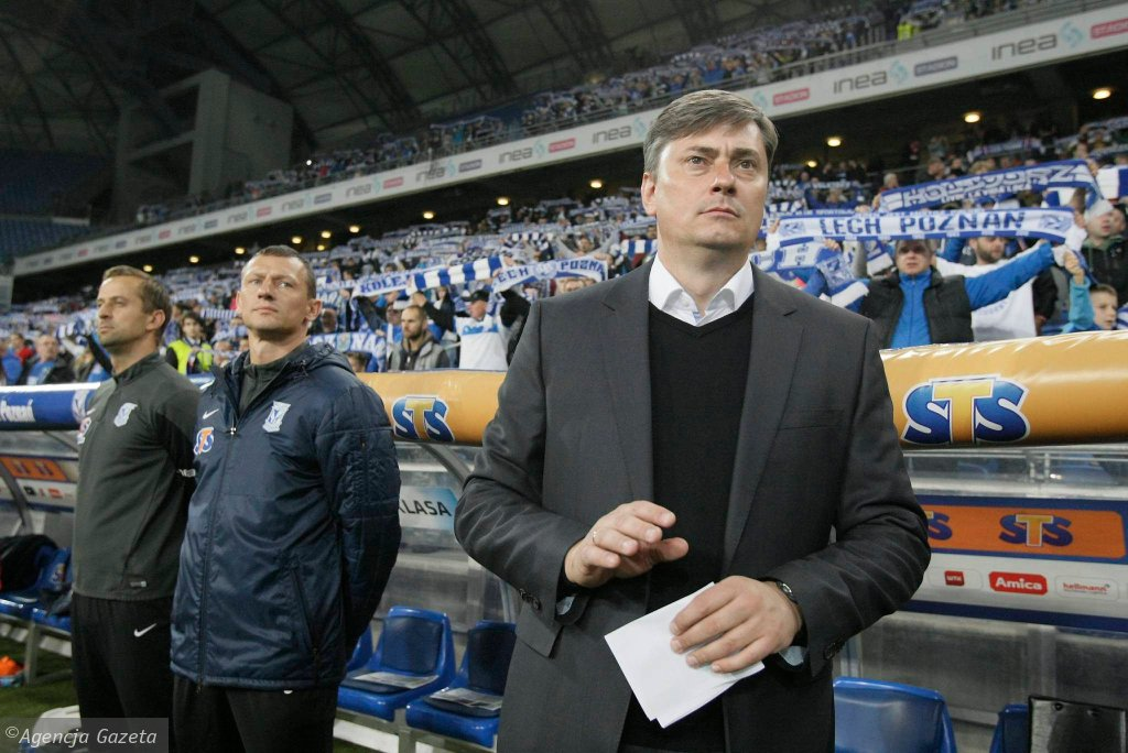 Lech Poznań - Górnik Zabrze 1:1. Trener Maciej Skorża