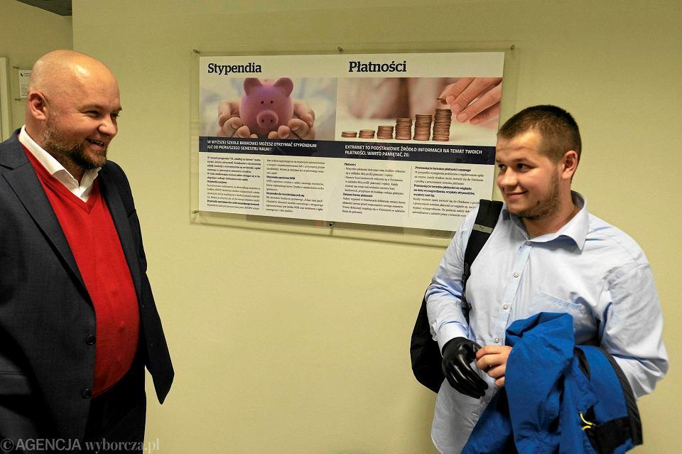 Konsul honorowy Ukrainy w Poznaniu Wiktor Horowski i Dima Shutak
