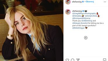 Elle Fanning pokazała, jak wygląda bez makijażu chorując na AZS. Fani wdzięczni za szczerość aktorki