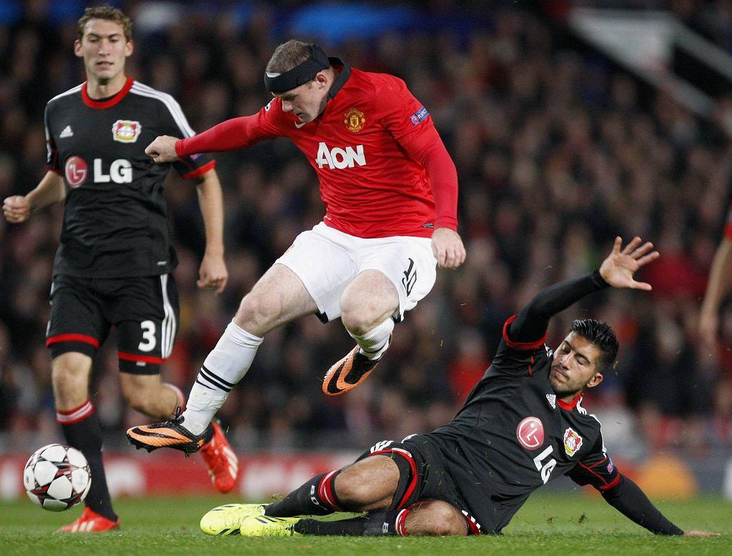 Wayne Rooney w meczu z Bayerem Leverkusen