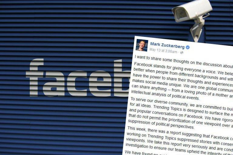 Facebook cenzuruje prawicowe treści