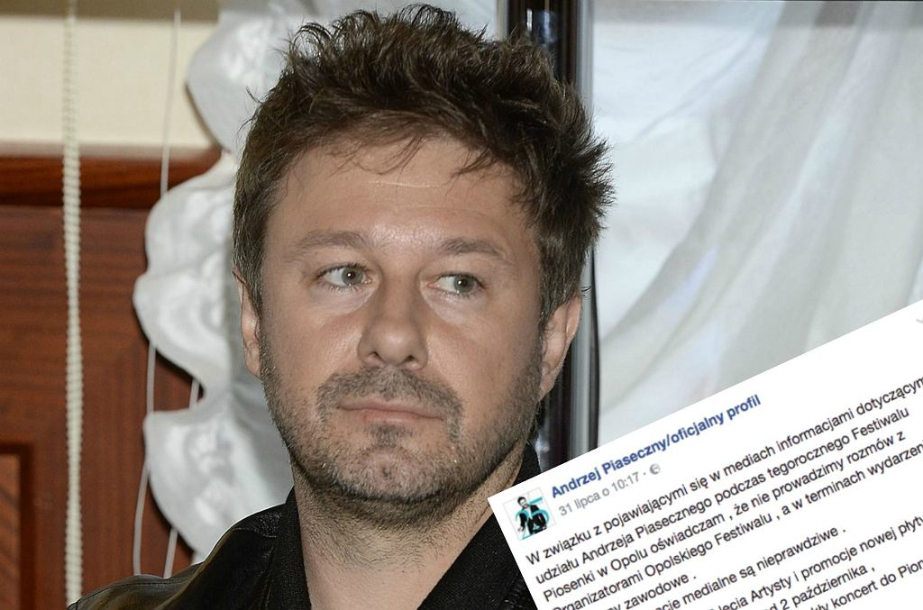 Andrzej Piaseczny nie wystąpi w Opolu