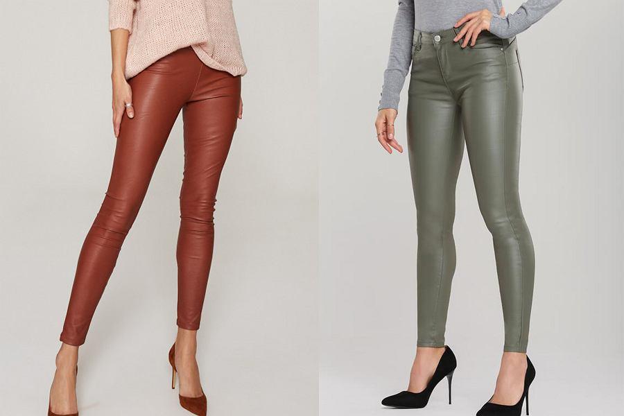 Skórzane spodnie w jesiennej kolorystyce