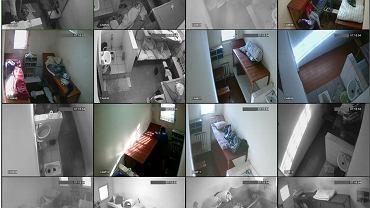 Przekaz wideo z kamer zainstalowanych w jednym z mińskich więzień